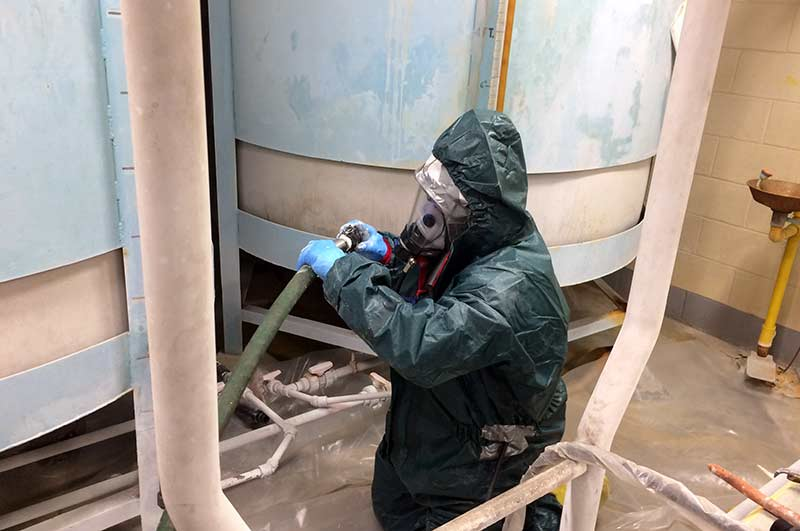 Corrosive Acid Tank Cleaning