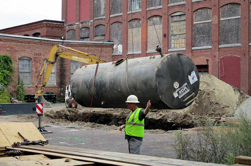 Large Industrial Underground Oil Tank Removal