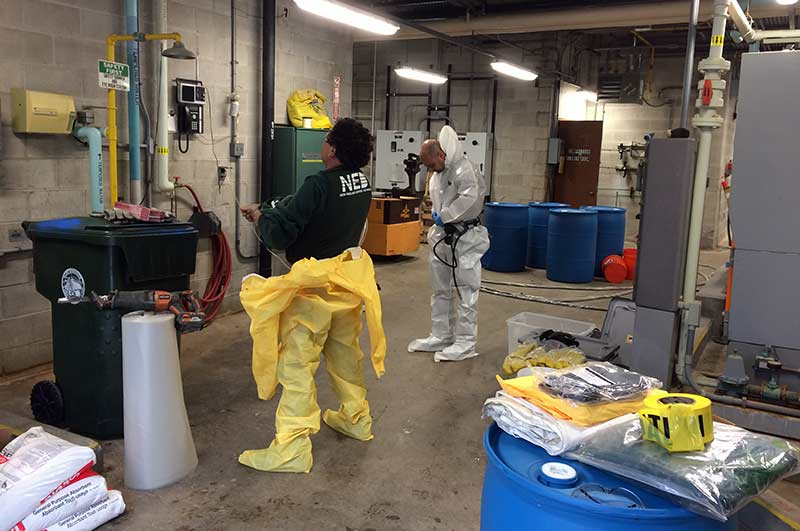 Level B PPE Confined Space Entry for High Hazard Chemical Tank Cleaning